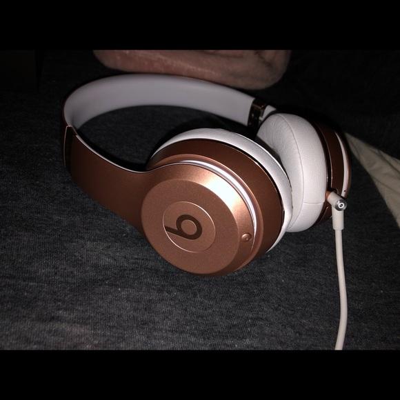 Beats By Dr Dre Jewelry Rose Gold Wireless Beats Solo 3 Headphones Poshmark